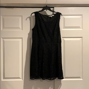 Lauren Conrad black lace dress